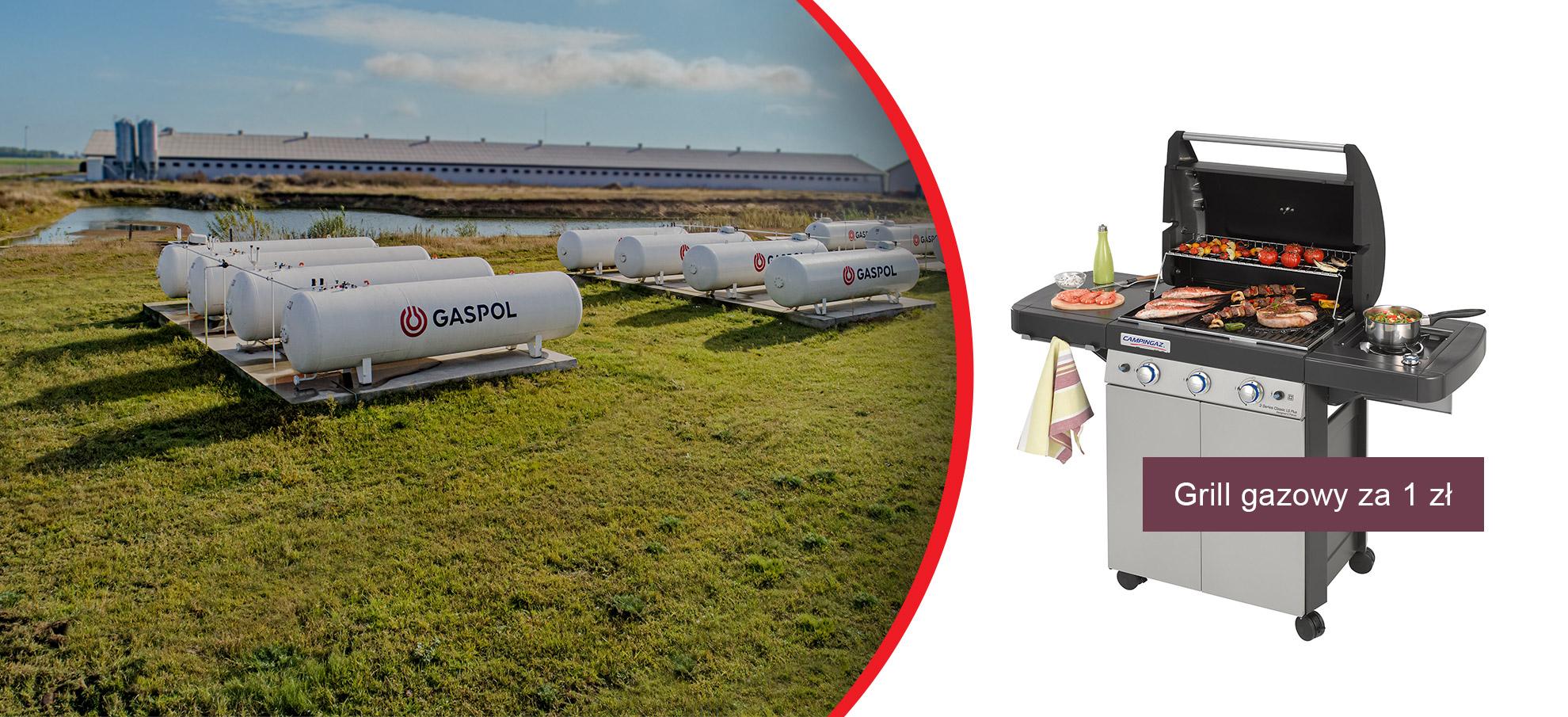 Promocja grill za 1 zł za podpisanie umowy na gaz płynny
