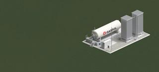 instalacja LNG, zbiornik poziomy 60m3
