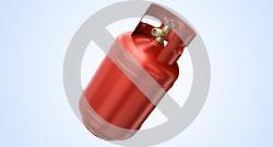 Czerwona butla z gazem